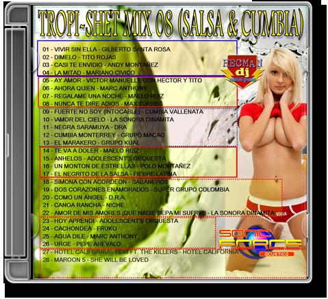 TROPI-SHET MIX 08 (SALSA & CUMBIA) 2009cd